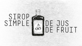 Sirop simple de jus de fruits